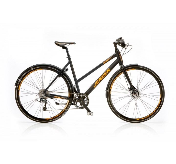 JENSEN CITYBIKE C10 DAME SORT/ORANGE