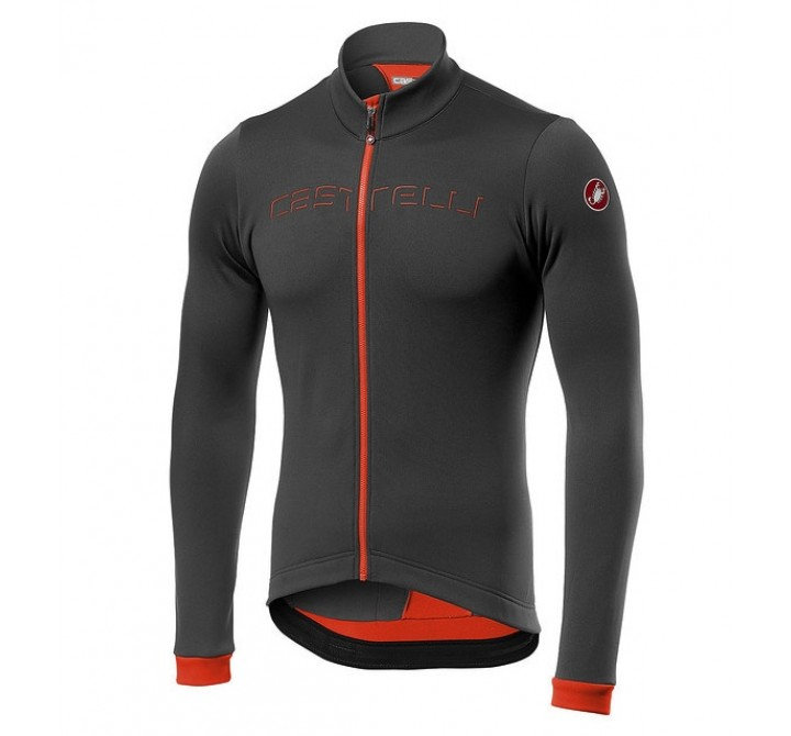 Castelli Fondo Jersey Gray Orange