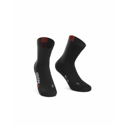 ASSOS RS SOCKS SORT/RØD