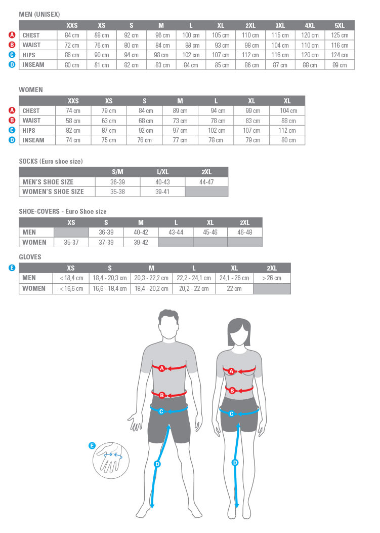 Castelli-complet-Size-Chart-ENG